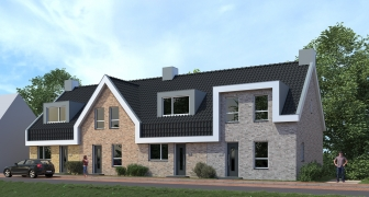 4 energieneutrale rijwoningen, Oud-Beijerland (Zuid-Holland)