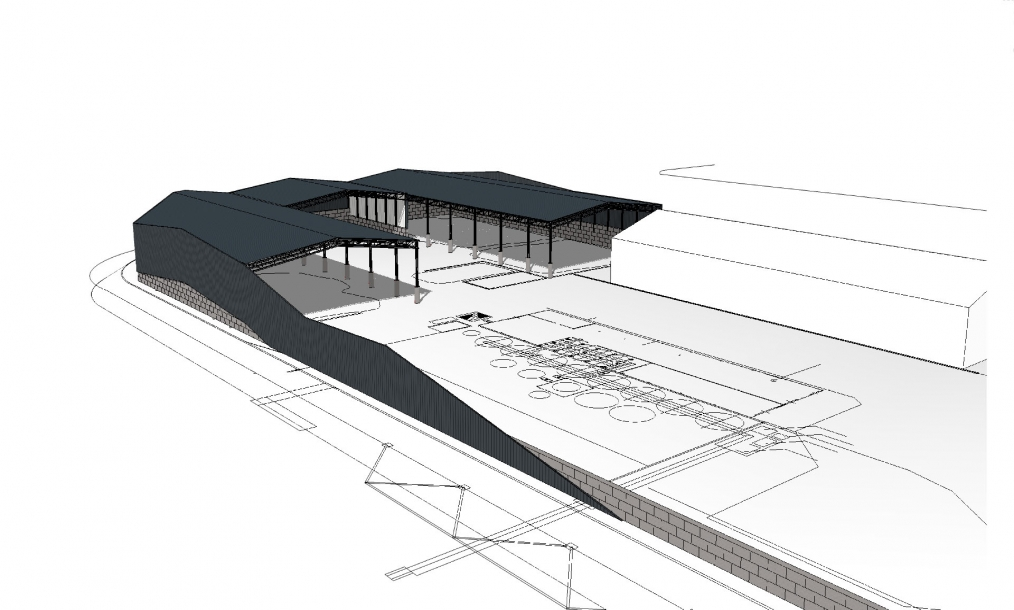 3D impressie ontwerpvoorstel terrein Filcom Wessem