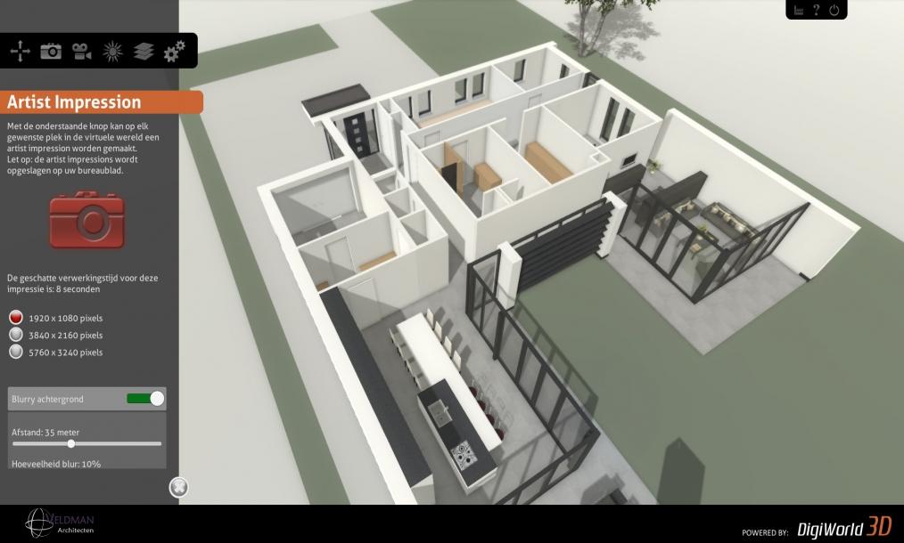 Interactief 3d model waarin het hele ontwerp bekeken en ontleed kan worden