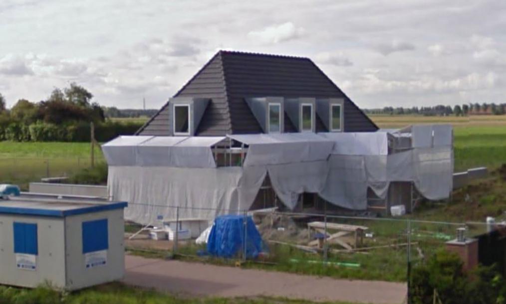 Bouw villa Esschenweg Strijen in uitvoering